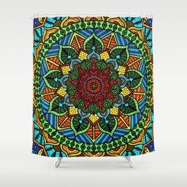Circle of Life Mandala full color Shower Curtain