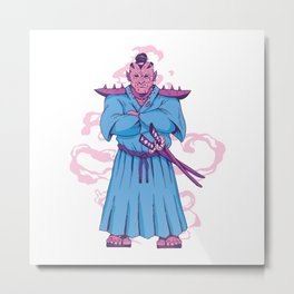 SAMURAI ORC Metal Print