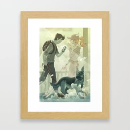Dog Walker Framed Art Print