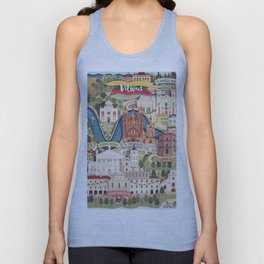 Vilnius, the capital city of Lithuania Unisex Tanktop