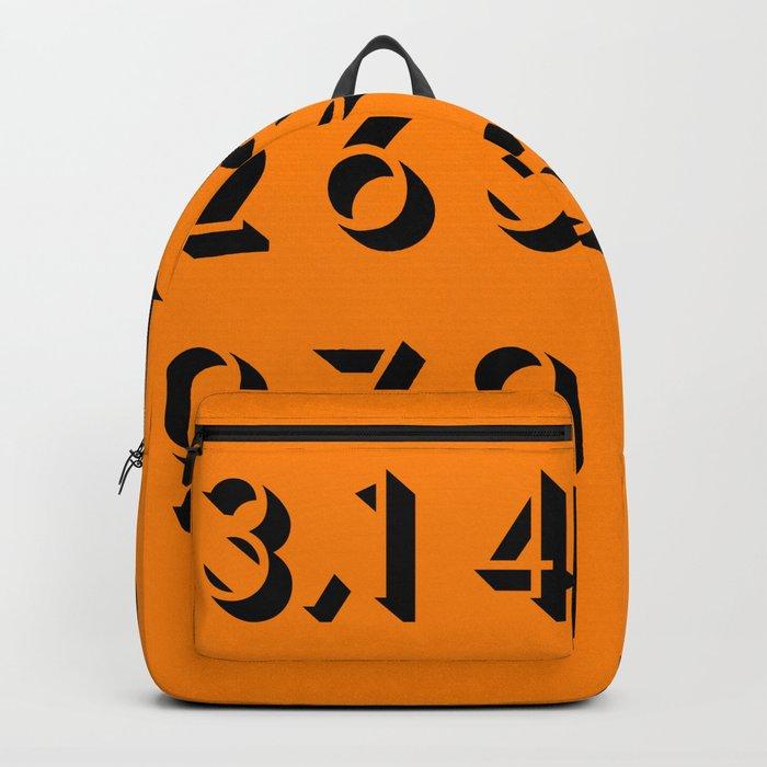 Pi - 3,14 -Orange Backpack