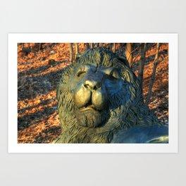 Oakwood Cemetery Lion Art Print
