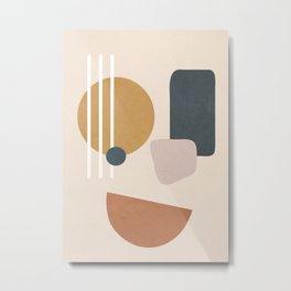 Minimal Abstract Shapes No.58 Metal Print