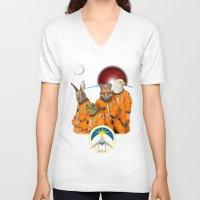 starfox V-neck T-shirts featuring STARFOX - The Lylat Space Program by John Medbury (LAZY J Studios)