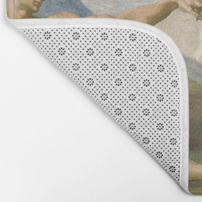 Michelangelo - Creation of Adam Bath Mat
