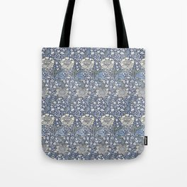 William Morris Navy Blue Botanical Pattern 7 Tote Bag