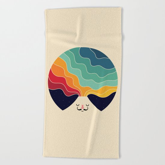 Keep Think Creative Beach Towel
