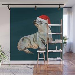 Christmas fur seal Wall Mural