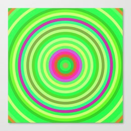 Retro Radial Canvas Print