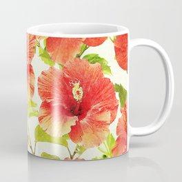FLORAL PATTERN - HIBISCUS - Coffee Mug