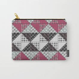 Beautiful red black white patchwork . Carry-All Pouch