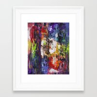 fringe Framed Art Prints featuring fringe by Glint & Lime Art
