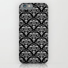 damask pattern back and white iPhone 6s Slim Case