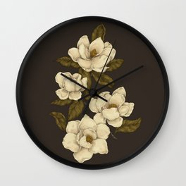 Magnolias Wall Clock
