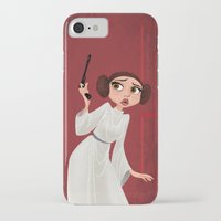 leia iPhone & iPod Cases featuring Leia by Samantha Youssef