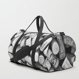Something Nostalgic II Twist-off Wine Corks in Black And White #decor #society6 #buyart Duffle Bag