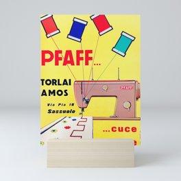Grafiche Milani - Pfaff macchina da cucire - 1959 - Vintage Art print Mini Art Print