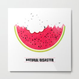 Natural Disaster Metal Print