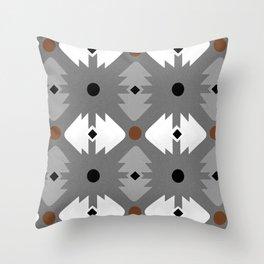 Modern Desert Fox Southwest Pattern Throw Pillow