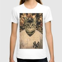 baseball T-shirts featuring Baseball Cat by Luigi Tarini