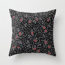 Keith Haring Variation #32 Throw Pillow