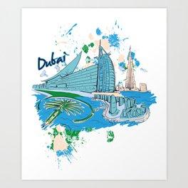 Dubai Arab Emirates gift desert Arabia Art Print