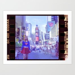 A Girl in the Big City Art Print