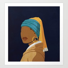 Girl With a Bamboo Earring Art Print