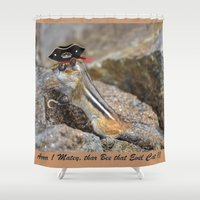 pirate Shower Curtains featuring Pirate by Robert Raney