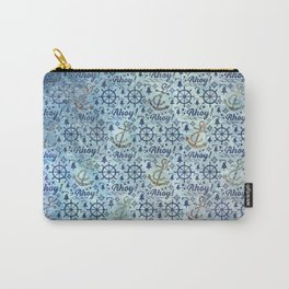 Vintage - Blue Ahoy Time for sailors Carry-All Pouch
