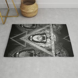 a moon for breakfast (monochrome series) Rug