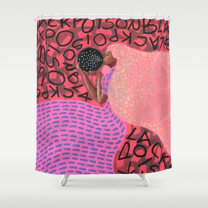 Black Poison Shower Curtain