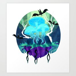 GhostShrooms Art Print