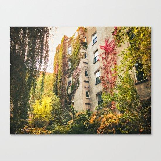 Autumn - New York City - East Village Garden Canvas Print