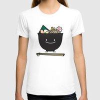 ramen T-shirts featuring Happy Ramen Bowl by Berenice Limon