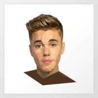 justin timberlake Art Prints featuring Justin by Maxx Hendriks