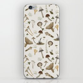 Northern forest (white) iPhone Skin