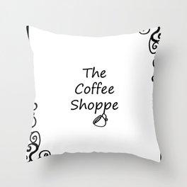 The Coffee Shoppe Throw Pillow