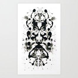 Rorschach-Poem Art Print