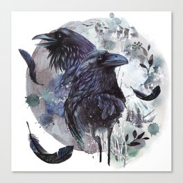 Full Moon Fever Dreams Of Velvet Ravens Canvas Print