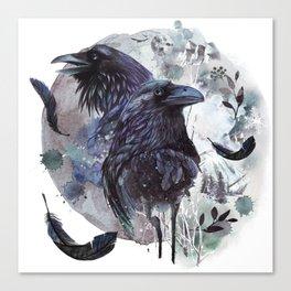 Full Moon Fever Dreams Of Velvet Ravens Canvas Print
