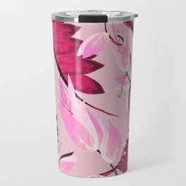 Pink Linear Tree Travel Mug