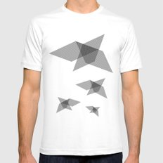 Come fly with me MEDIUM Mens Fitted Tee White