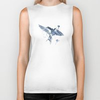 swallow Biker Tanks featuring Swallow by bethbile