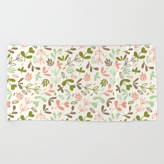 Colorful Lovely Pattern XIV Beach Towel