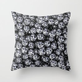 It's Full of Disco / 3D render of hundreds of shiny mirror balls Throw Pillow