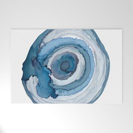 Blue Agate Painting Welcome Mat