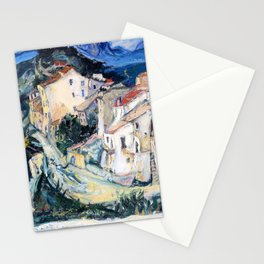 Chaim Soutine - View of Cagnes - Digital Remastered Edition Stationery Cards