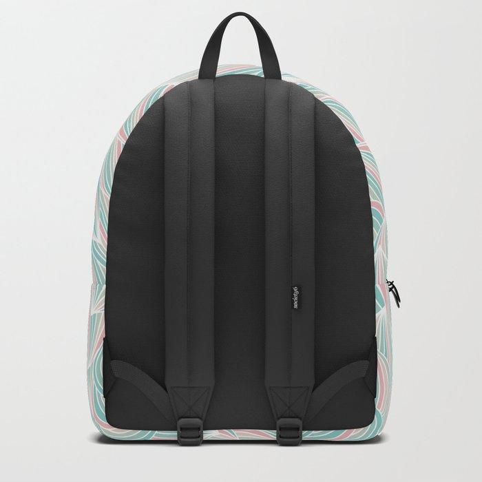 Cool Colorful Ocean Waves Backpack