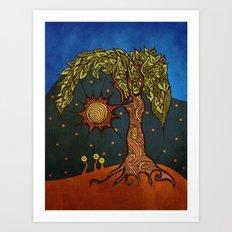 Mystic Tree Noche by Pom Graphic Design & Viviana Gonzalez Art Print